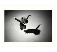 Girl (jumping) Art Print