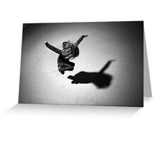 Girl (jumping) Greeting Card