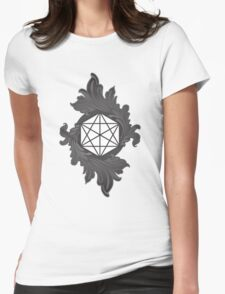 Acanthus Enshrouded Cube Womens Fitted T-Shirt