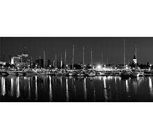 Admiral harbor B&W Photographic Print