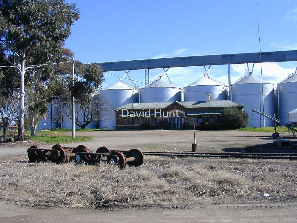 Grain Silos At Yarrawonga Railway Station By David Hunt