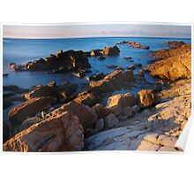 A vivid morning on the beach Poster