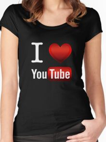 I Love Youtube Women's Fitted Scoop T-Shirt