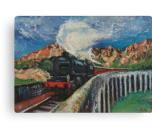 Jacobite Steam train over Glenfinnan viaduct Canvas Print