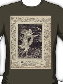 Spenser's Faerie queene A poem in six books with the fragment Mutabilitie Ed by Thomas J Wise, pictured by Walter Crane 1895 V4 171 - The Gentle Squire Recovers Grace T-Shirt