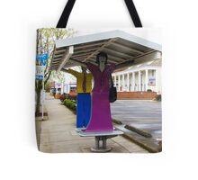 Rainy Day Bus Stop Tote Bag