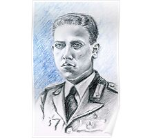 Arnaldo Filippi portrait-WWII Collection Poster
