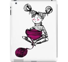 Knitting time  iPad Case/Skin