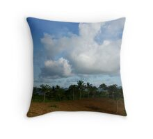 The Invasion of Cumulus Throw Pillow