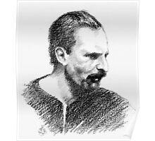 """""""Volando con Visconti"""" Portraits-Cesare Erminio Poster"""