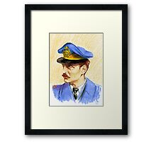 """Volando con Visconti"" Portraits- Adriano Visconti Framed Print"