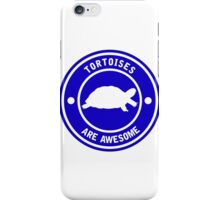 Tortoises are awesome (Blue) iPhone Case/Skin