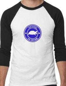Tortoises are awesome (Blue) Men's Baseball ¾ T-Shirt