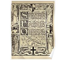 Spenser's Faerie queene A poem in six books with the fragment Mutabilitie Ed by Thomas J Wise, pictured by Walter Crane 1895 V1 8 - Cover Plate Poster
