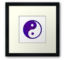 Abstract Purple Yin Yang Symbol Framed Print