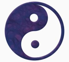Abstract Purple Yin Yang Symbol Kids Clothes