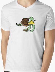 TURTLE DUCK Mens V-Neck T-Shirt