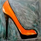 orange pump by Petra Pinn