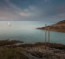 Mumbles lighthouse Swansea by leightoncollins