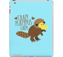 Crazy Platypus lady iPad Case/Skin