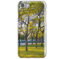 trees at sunset iPhone Case/Skin