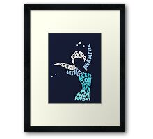 Elsa - Let it go Framed Print