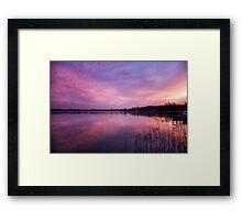 Dawn flight Framed Print