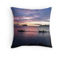 Sabah Sunset Throw Pillow