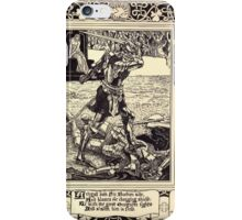Spenser's Faerie queene A poem in six books with the fragment Mutabilitie Ed by Thomas J Wise, pictured by Walter Crane 1895 V5 261 - Artegall Doth Sir Burbon Side iPhone Case/Skin