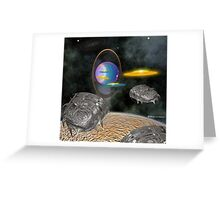 Expedition to the Seventh Planet from the sun. Greeting Card