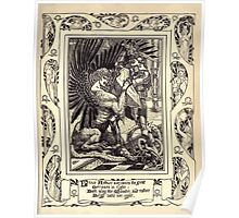 Spenser's Faerie queene A poem in six books with the fragment Mutabilitie Ed by Thomas J Wise, pictured by Walter Crane 1895 V5 231 - Prince Arthure Overcomes the Great Gerioneo in Fight Poster