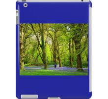 Never Too Old - to Play Amongst Bluebells iPad Case/Skin
