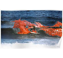 On fire at Bells, Rip Curl Pro Snickers freestyle Poster