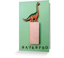 Green Sauropod Greeting Card