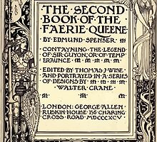 Spenser's Faerie queene A poem in six books with the fragment Mutabilitie Ed by Thomas J Wise, pictured by Walter Crane 1895 V2 11 - Second Book Title Plate by wetdryvac