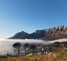 Above Cape Town in it's Foggy Embrace by SeeOneSoul