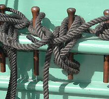 Ropes on HMS Trincomalee Hartlepool by Jackie Wilson