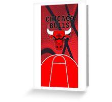 Chicago Bulls Logo Basketball NBA Greeting Card