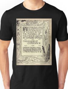 Spenser's Faerie queene A poem in six books with the fragment Mutabilitie Ed by Thomas J Wise, pictured by Walter Crane 1895 V6 279 - Poetry Fragment Plate Unisex T-Shirt