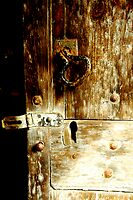 Old wooden door by Karen  Betts