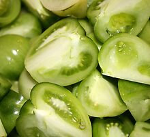 The green tomato in a pickle by Arrina