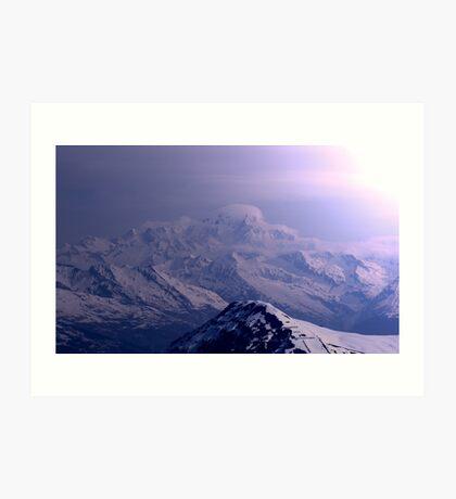mornin oan mont blanc Art Print