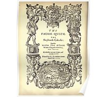 Spenser's Faerie queene A poem in six books with the fragment Mutabilitie Ed by Thomas J Wise, pictured by Walter Crane 1895 V1 78 - Title Plate 2 Poster
