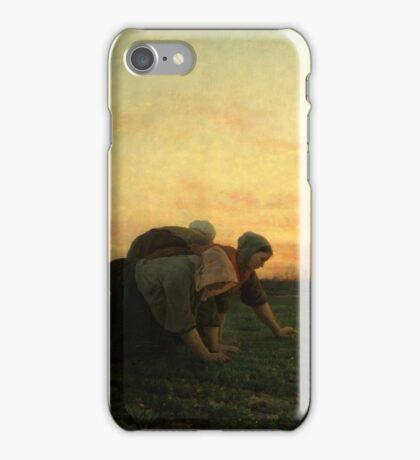 The Weeders 1868 by Jules Breton iPhone Case/Skin