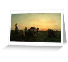 The Weeders 1868 by Jules Breton Greeting Card