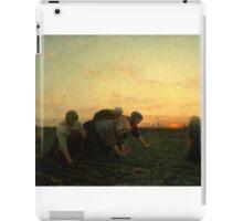 The Weeders 1868 by Jules Breton iPad Case/Skin