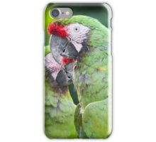 ara macaw parrot on its perch iPhone Case/Skin