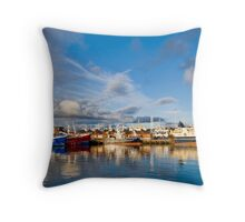 Killybegs Harbour Throw Pillow