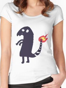 Charmander tattoo fail Women's Fitted Scoop T-Shirt