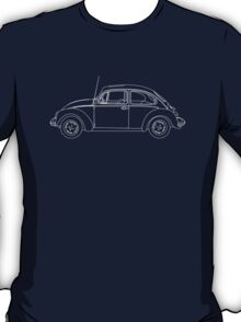 Wireframe Beetle White T-Shirt